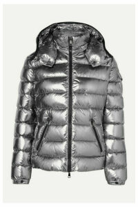 Moncler - Metallic Hooded Quilted Shell Down Jacket - Silver