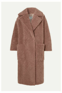 Nanushka - Imogen Oversized Double-breasted Faux Shearling Coat - Brown