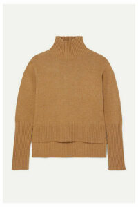 The Range - Downy Knitted Turtleneck Sweater - Camel