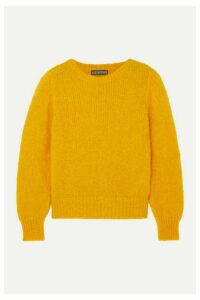 ALEXACHUNG - Mohair-blend Sweater - Mustard