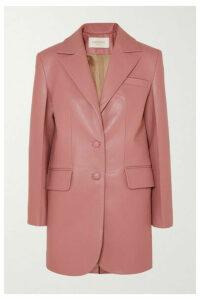 MATÉRIEL - Faux Leather Blazer - Pink