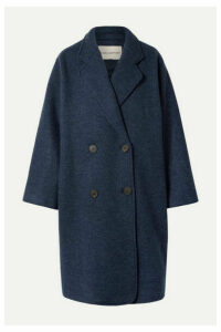 Mara Hoffman - Clementine Oversized Double-breasted Wool Coat - Navy