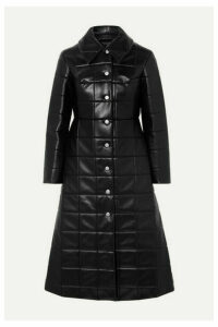A.W.A.K.E. MODE - Miss Roboto Quilted Faux Leather Coat - Black