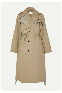 Maison Margiela - Belted Cotton Canvas-trimmed Gabardine Trench Coat - Beige
