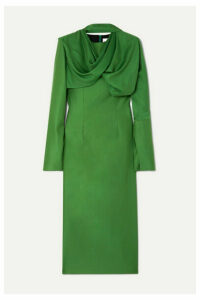 Aleksandre Akhalkatsishvili - Draped Twill Midi Dress - Green