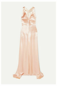 Philosophy di Lorenzo Serafini - Hammered-satin Maxi Dress - Peach