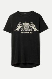 R13 - Bearhead Crest Boy Oversized Printed Cotton-blend Jersey T-shirt - Charcoal