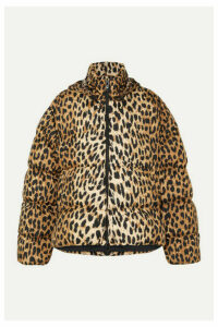 Balenciaga - C-shape Hooded Leopard-print Quilted Shell Jacket - Leopard print