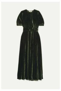 ARoss Girl x Soler - Brooke Belted Velvet Maxi Dress - Forest green