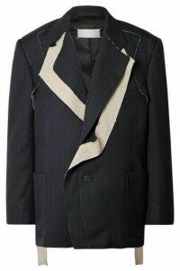 Maison Margiela - Pinstriped Wool Blazer - Navy