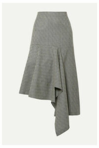 Balenciaga - Asymmetric Checked Wool-jacquard Midi Skirt - Green