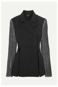 Ellery - Prediction Cady And Ribbed-knit Blazer - Black