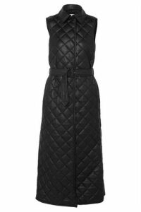 Gabriela Hearst - Rodenko Belted Quilted Leather Vest - Black