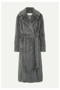 Gabriela Hearst - Pavlovna Belted Wool, Silk And Cashmere-blend Coat - Dark gray