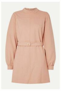 Victoria, Victoria Beckham - Belted Twill Mini Dress - Blush