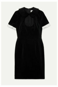 Comme des Garçons GIRL - Ruffle-trimmed Cutout Cotton-velvet Dress - Black