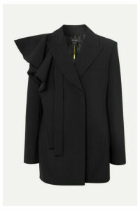Ellery - School Yard Ruffled Cady Blazer - Black