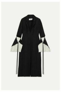 Loewe - Cutout Linen-blend Coat - Black