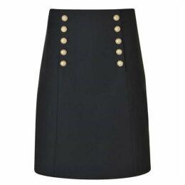 Gucci Pearl Button Wool Silk Skirt