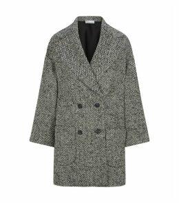 Chevron Cocoon Coat