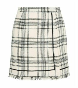 Check Tweed Skirt