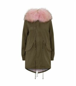 Fur-Trim Hooded Parka