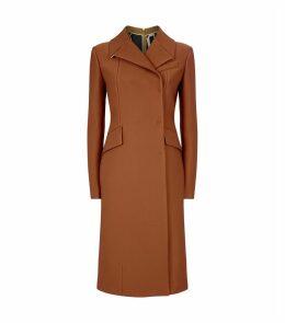 Ribbed Zip-Back Coat