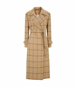 Christie Check Trench Coat