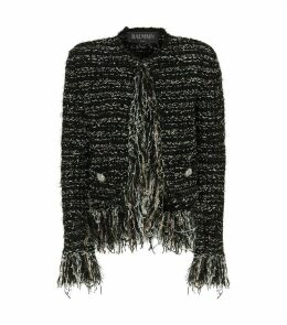 Fringed Tweed Blazer