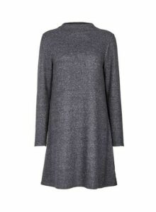 Womens **Only Charcoal Swing Dress- Grey, Grey
