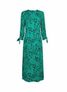Womens **Tall Green Mixed Animal Print Midi Dress- Green, Green