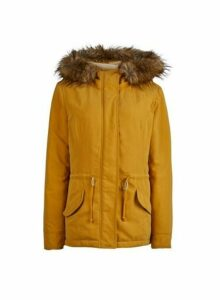Womens **Only Yellow Parka Coat- Yellow, Yellow