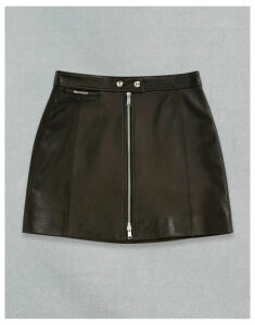 Belstaff LEATHER BIKER SKIRT Black UK 4 /