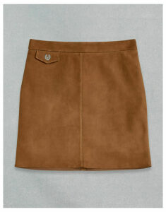 Belstaff AMELIA SUEDE SKIRT Brown UK 6 /