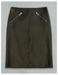 Belstaff RIDER LEATHER SKIRT Black UK 4 /