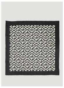 Gucci G Rhombus Print Silk Scarf in Black size One Size