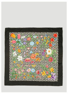 Gucci Floral G Rhombus Print Silk Scarf in Black size One Size