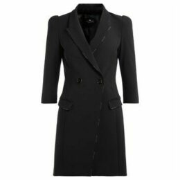 Elisabetta Franchi  black dress with double-breasted closure  women's Dress in Black