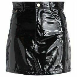 Chiara Ferragni  Vynil Chiara Ferragni miniskirt made of shiny black fabric  women's Skirt in Black