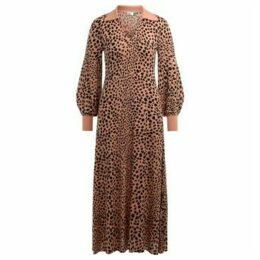 Rixo  Piper dress in leopard print  women's Long Dress in Other