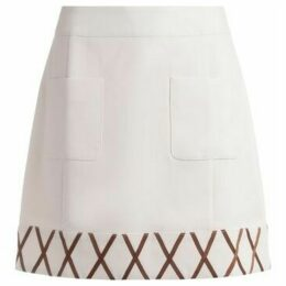 Rixo  miniskirt Kitty model in ivory fabric  women's Skirt in White
