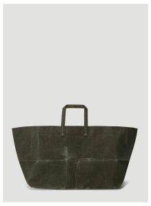 Funagata 010 Sideways Waxed Canvas Bag in Grey size One Size