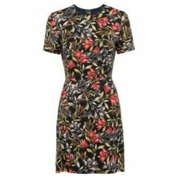 French Connection  Short-sleeved floral dress  women's Dress in Black