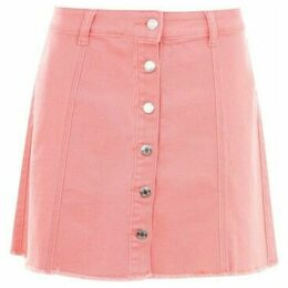 Golddigga  Button Down Skirt Ladies  women's Skirt in Pink