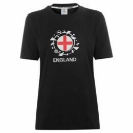 Fifa  Womens World Cup England Graphic T Shirt Ladies  women's T shirt in Black