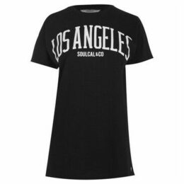 Soulcal  City T Shirt Ladies  women's T shirt in Black