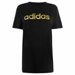 adidas  Foil QT T Shirt Ladies  women's T shirt in Black