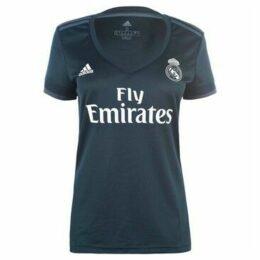 adidas  Real Madrid Away Shirt 2018 2019 Ladies  women's T shirt in Blue