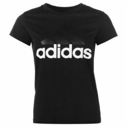 adidas  Linear QT T Shirt Ladies  women's T shirt in Black