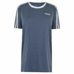 adidas  Essentials 3 Stripe T Shirt Ladies  women's T shirt in Blue